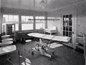 Photograph of the Lucy Hastings Hospital operating room, from an undated prospectus