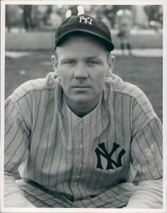 """Robert """"Red"""" Rolfe, The Pride of Penacook, wearing his Yankee uniform."""