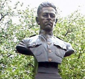 Bust of Pvt. Henry J. Sweeney in Manchester NH's Sweeney Park