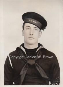 Berwin H. Webster in dress blue service uniform circa 1943