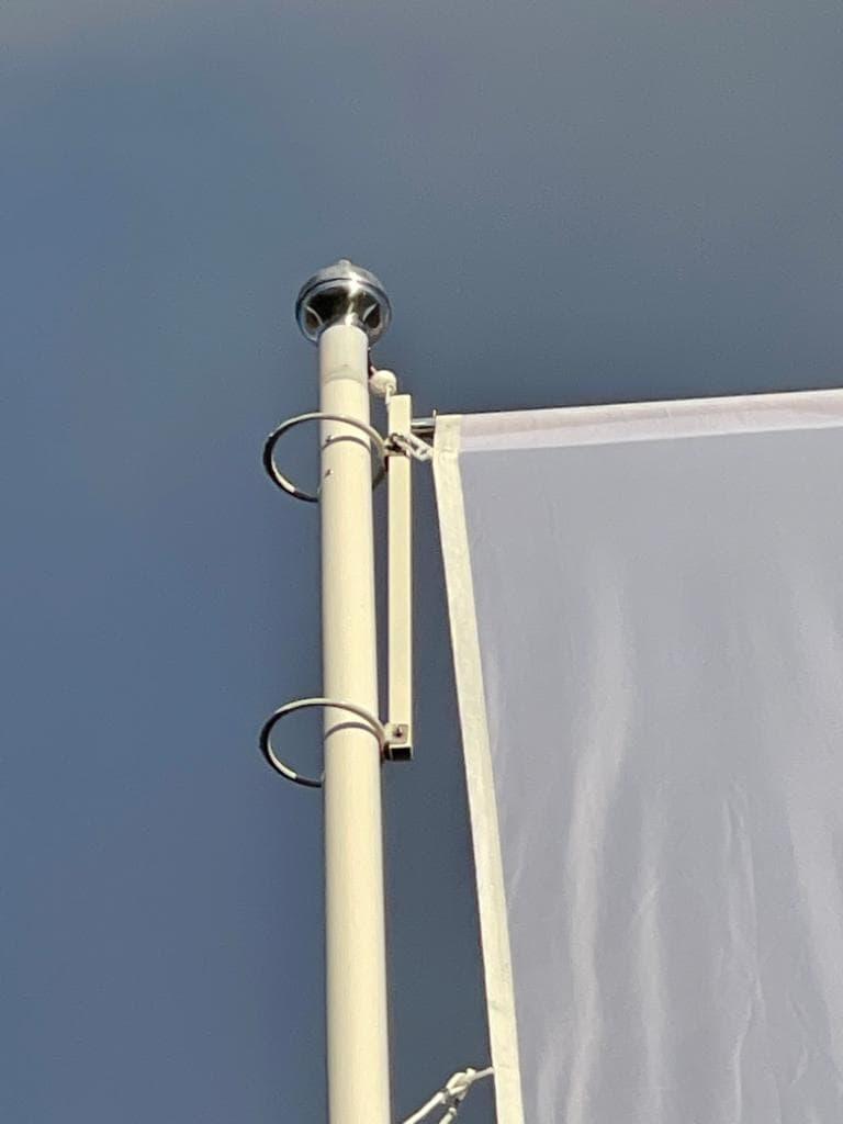 8 meter polyester hijsbare baniermast