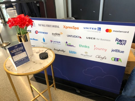 Get some peace and quiet (and power) at the ORD National Business Traveler Day lounge.