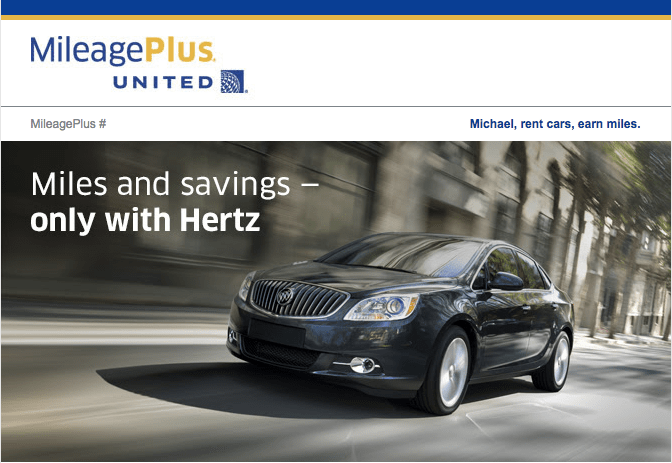 United MileagePlus Hertz Promotion