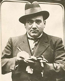 Enrico Caruso signing an autograph