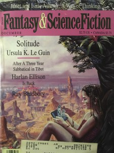 Solitude, the cover of Fantasy & Science Fiction, December 1993