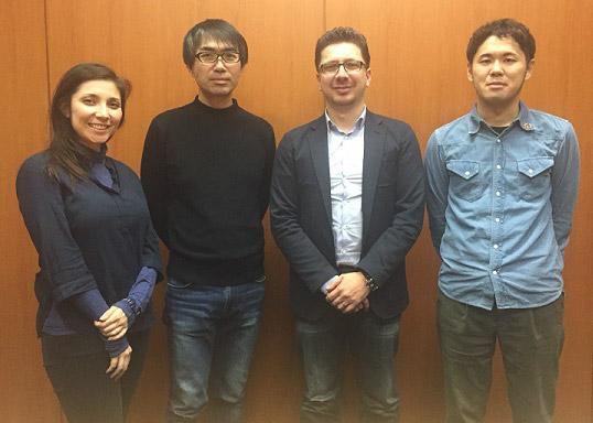 Sahé Cibot (Shibuya International), Yoshihisa Heishi (Shueisha), Cédric Biscay (Shibuya Productions), Shuhei Hosono (Shueisha)