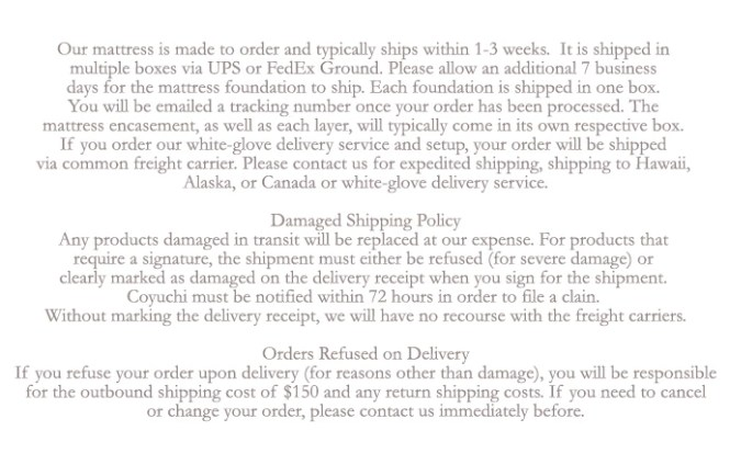 Shipping Details Here