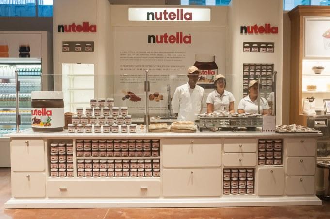 E esse balcão da Nutella? Uma delícia!