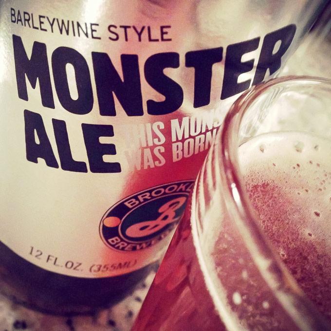 Cerveja Barleywine Monster Ale da Brooklyn Brewery | Cozinha do João