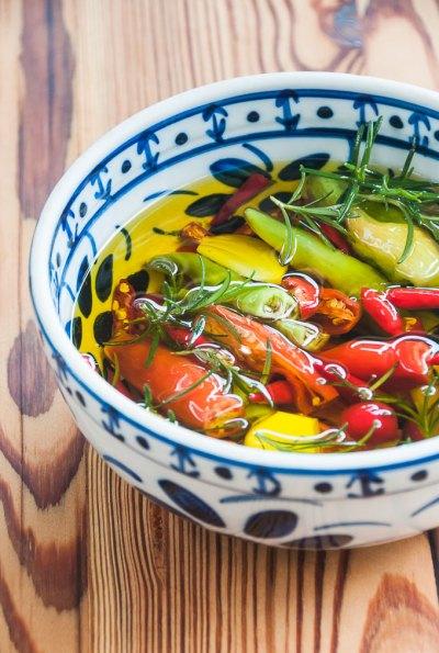 Receita de pimentas em conserva no azeite de oliva   Cozinha do João