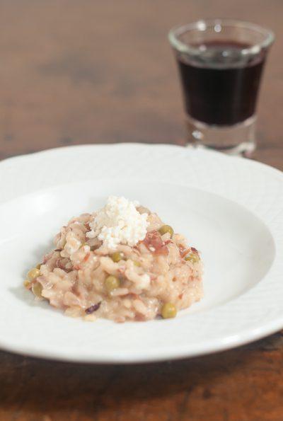 Receita: Risoto de ervilha, presunto cru e queijo de cabra | Cozinha do João