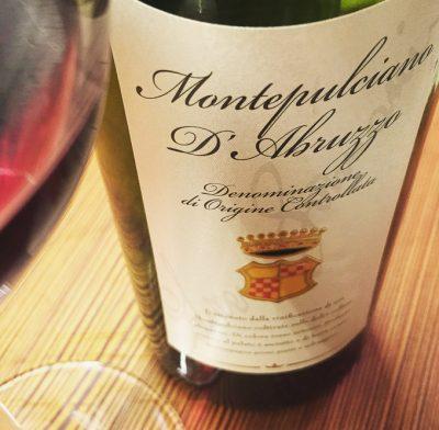 Vinho Montepulciano D'Abruzzo, vendido pela evino | Cozinha do João