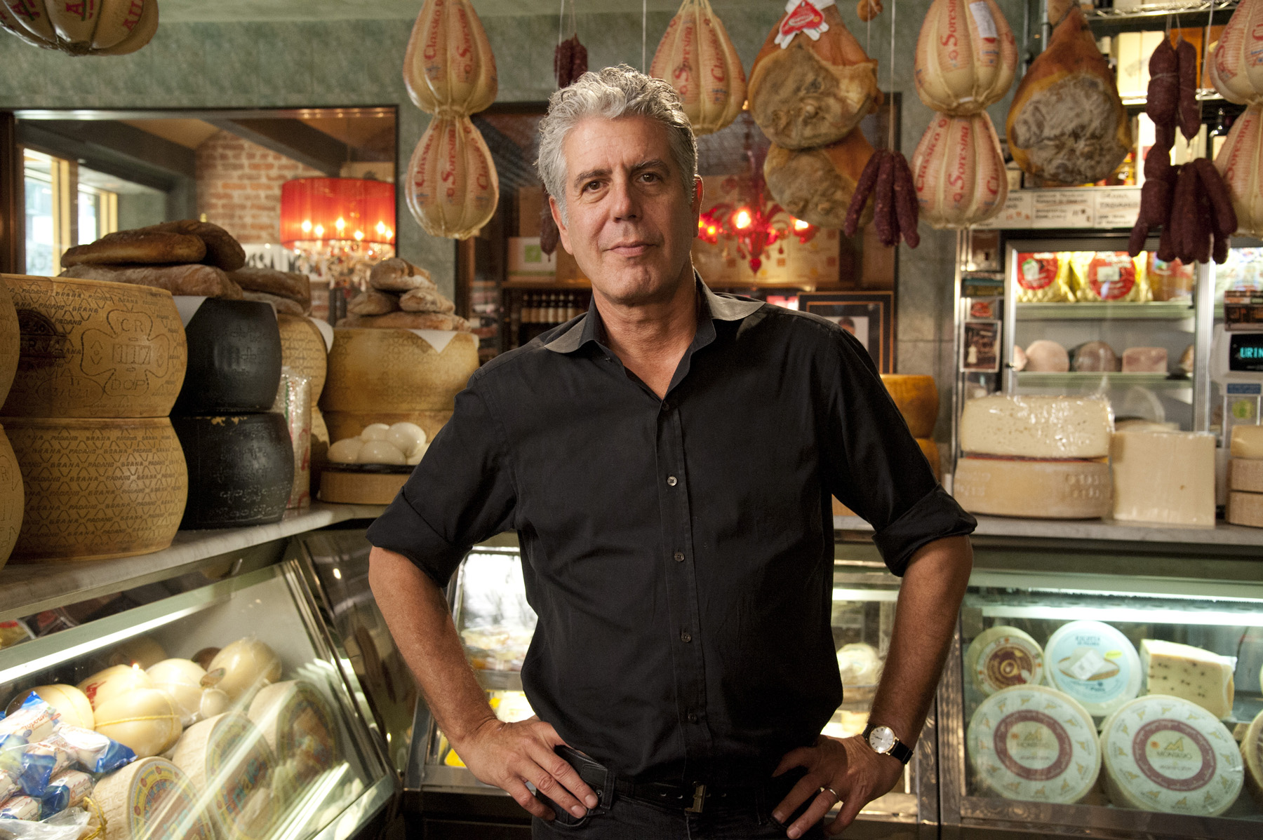 "Anthony Bourdain is seen in a photo from the production of ""Mob Week on AMC"" in New York, NY on June 22, 2012. David E. Steele/AMC"