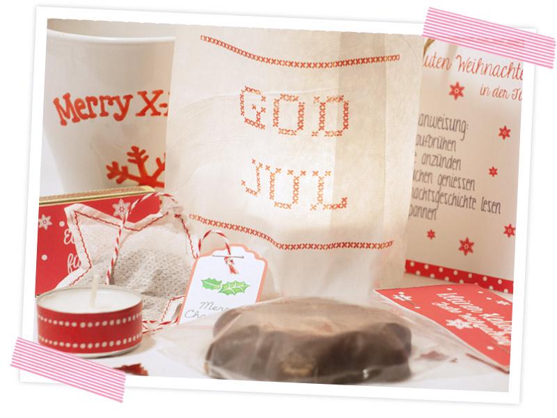 Instantweihnachten - Weihnachten in der Tüte verschenken. Anleitung