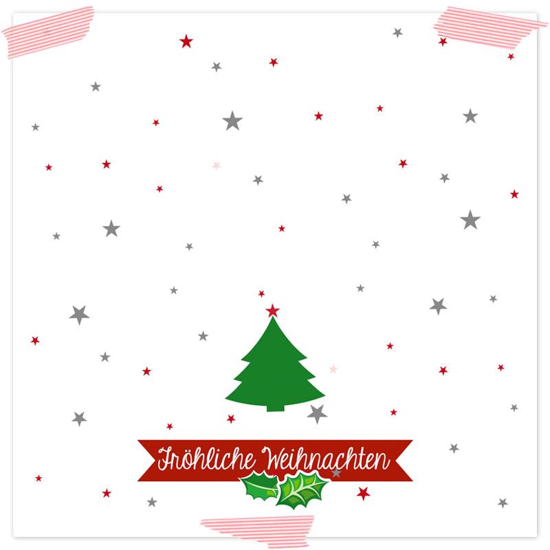 Gutscheinvorlage Tannenbaum. Selbstgebastelte Gutscheinvorlage ideal als Last-Minute-Geschenk, mit Weihnachtsmotiven und Formularfeldern zum selber ausfüllen. Vorlagen als Download (Printable, Freebie)