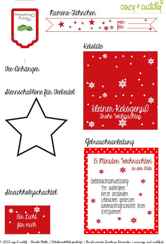 15 Minuten Weihnachten Anleitung.Adventskalender Turchen Nr 16 Besinnlichkeit Schenken