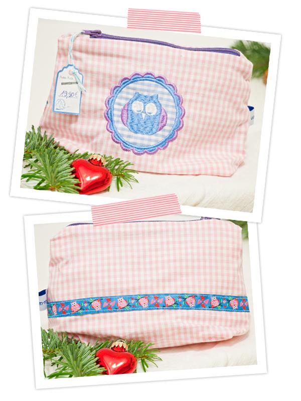 Verlosung einer Kosmetiktasche mit Eule - cozy &cuddly Adventskalender