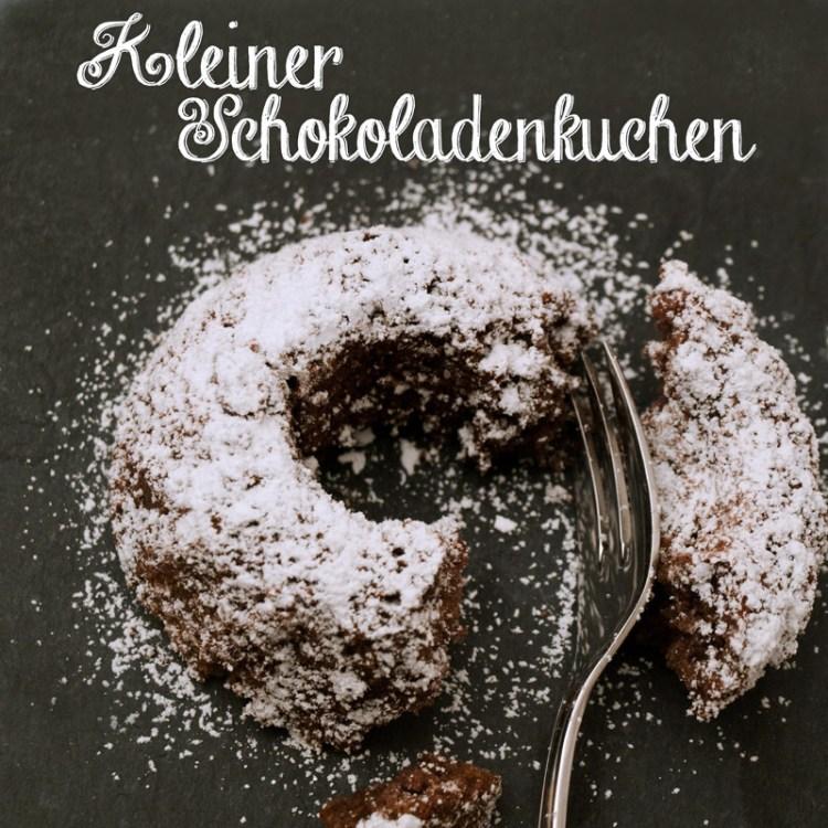 Kleiner Schokoladenkuchen, Rezept für zwei Personen