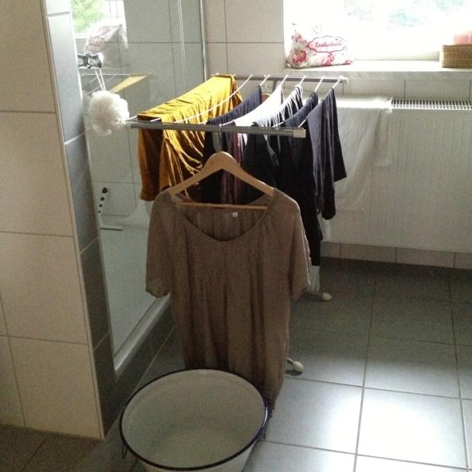 Wäsche gewaschen. Notwendiges Übel