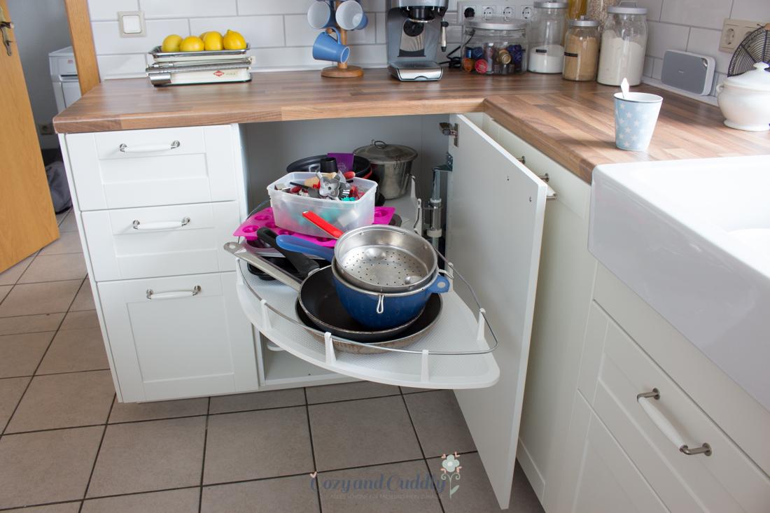 Eckschrank küche auszug  Die neue Ikea-Küche. Auf diesen Post habe ich mich ewig gefreut ...