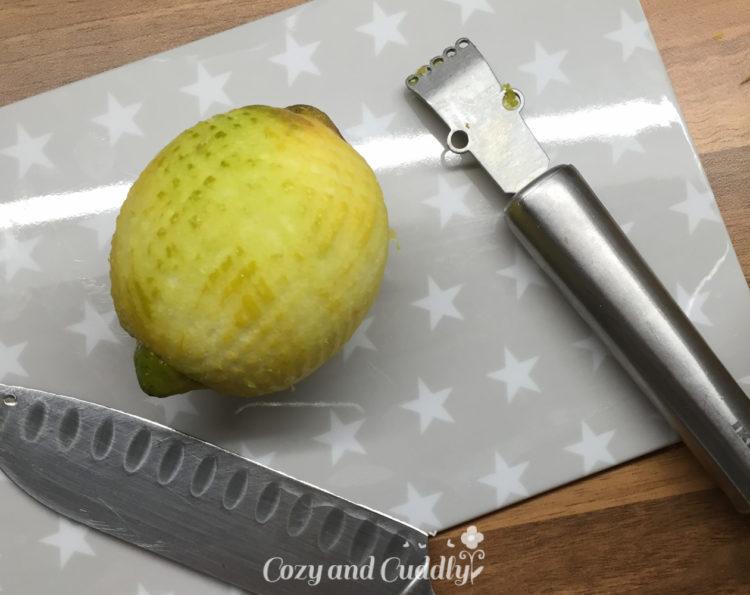 Adventskalender Tag19: Anleitung für Zitronen-Kokosöl-Peeling mit Etikett
