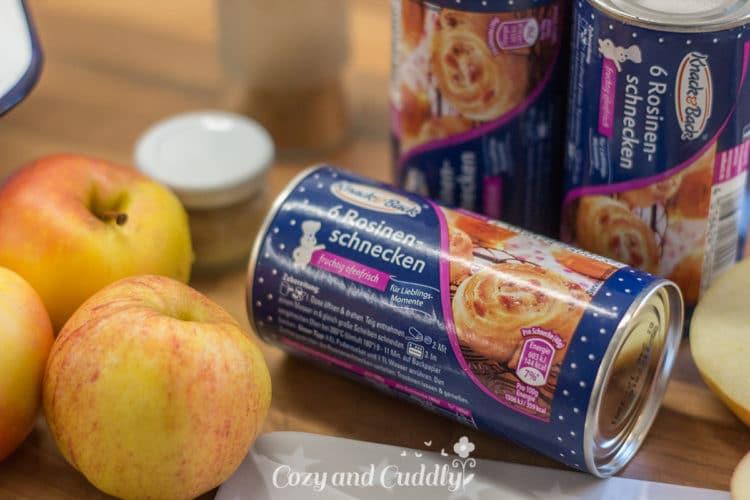 Leckeres Rosinen-Apfel pull-apart-bread aus Knack & Back