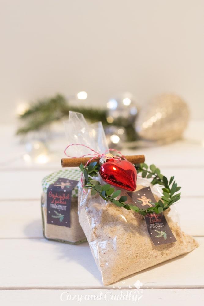 Advent: Bratapfelzucker mit Etiketten zum Ausdrucken, cozy and cuddly Adventskalender