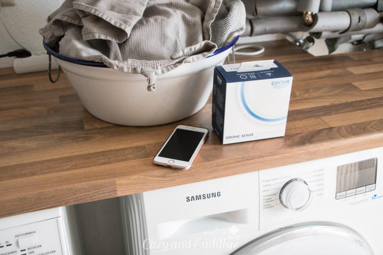 Wasserschaden vermeiden mit GROHE Sense - Wassersensor Fruehwarnsystem mit App