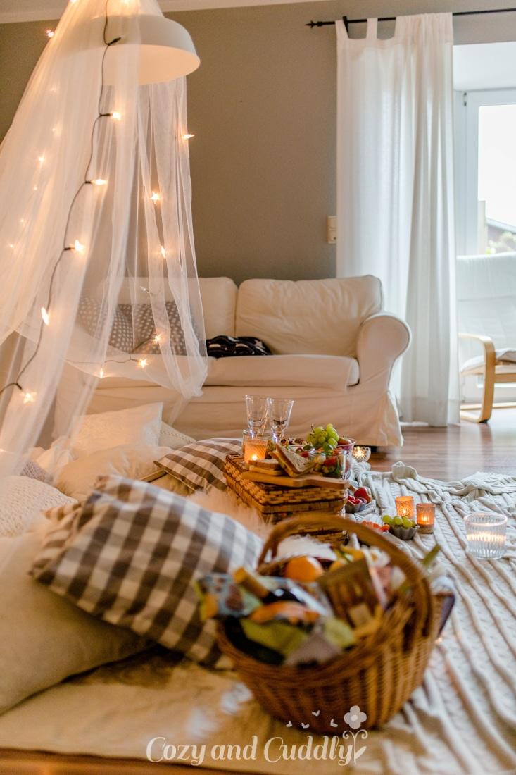 Indoor-Picknick - romantisch im Herbst - 7 Tipps für einen ...