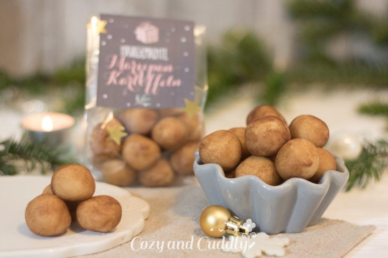Advent: Rezept für hausgemachte Marzipankartoffeln mit Printable - cozy and cuddly Adventskalender