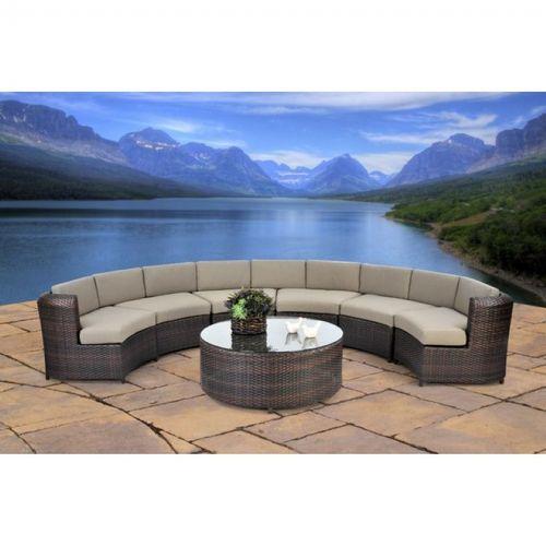 avila semicircle sectional patio seating set 7 piece