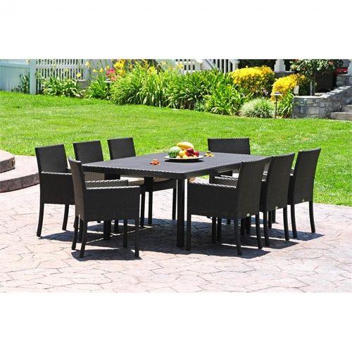 dijon modern patio dining set 9 piece