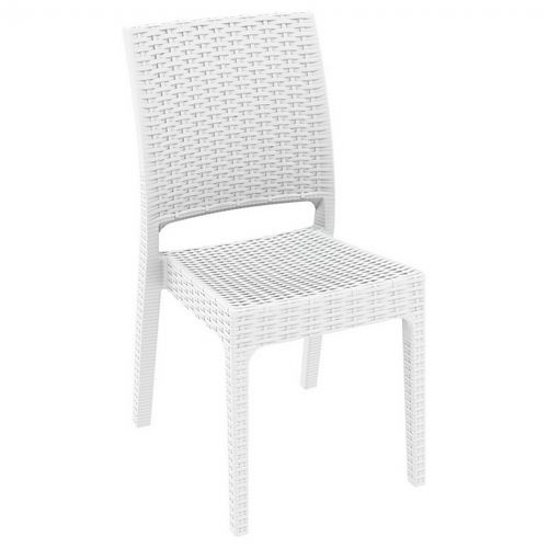 florida wickerlook resin patio dining chair white