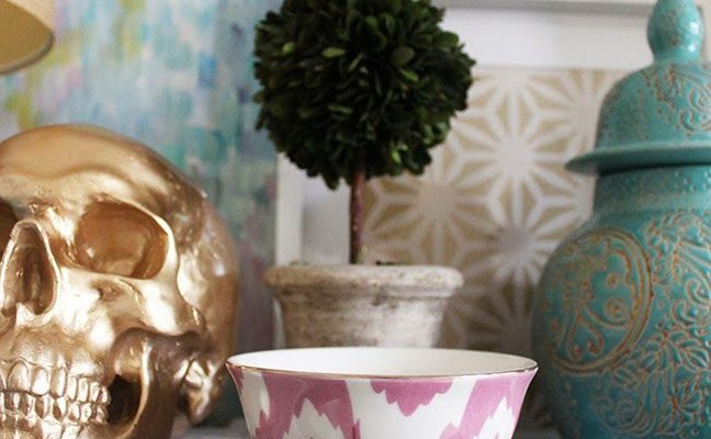 Gold Skulls Bring Color and Life to the Home