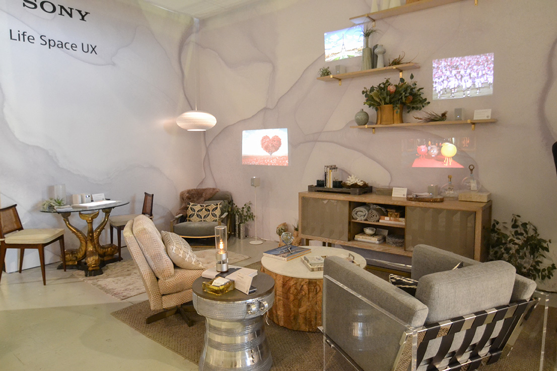 The Sony LifeSpaceUX booth at the WestEdge Design Fair designed by Cozy Stylish Chic
