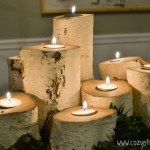 A quick and easy DIY of how to make a set of tree stump candle holders