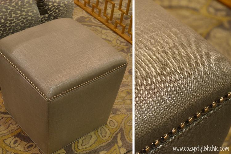 Metallic finished stool from Moss Studio via Cozy•Stylish•Chic