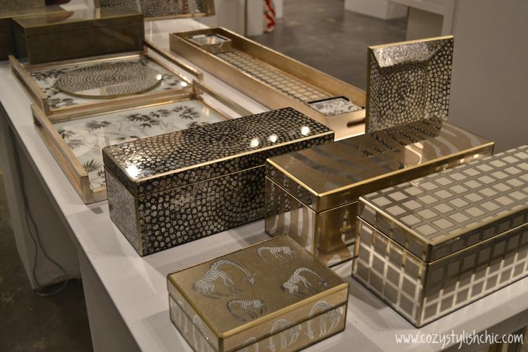 Waylande Gregory metallic curio boxes via Cozy•Stylish•Chic