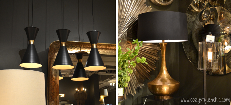 Matte black brings sexy back!  Arteriors at Las Vegas Market via Cozy•Stylish•Chic