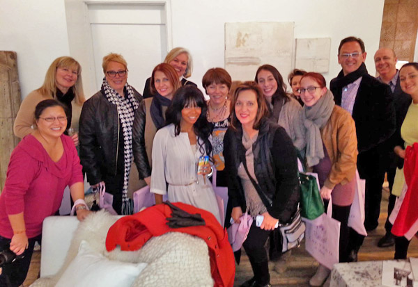 BlogtourNYC Group pic at Calypso Home