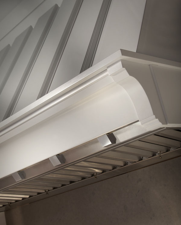 Luxury cabinetry -Hood molding-Ruskin by Rutt Cabinetry