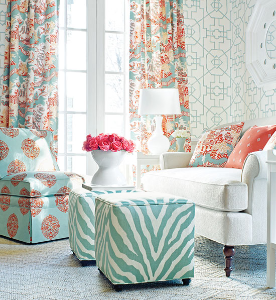 Aqua and Coral Thibaut-Enchantment Collection