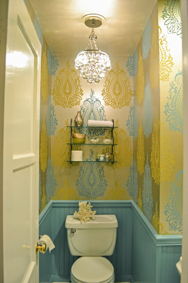 Powder room by Pasadena interior designer Jeanne Chung