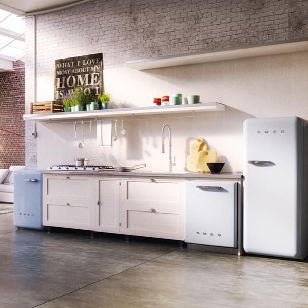 smeg retro kitchen appliances