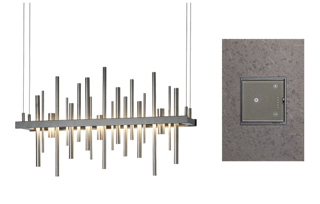 Adorne and Hubbardton Forge pairs light and switch