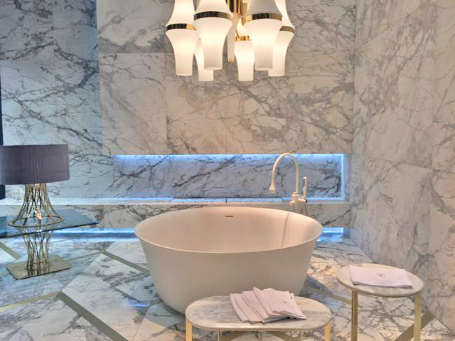Top Kitchen and Bath Trends 2017 - Brass Inlay