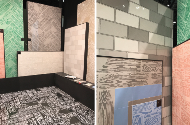 tile trends - coverings 2017 - exaggerrated wood