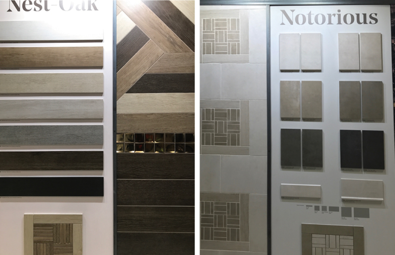 Coverings 2017 - multimedia color palette tile trend