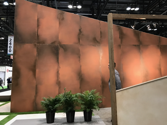Coverings 2017 - Patina and Oxide trend