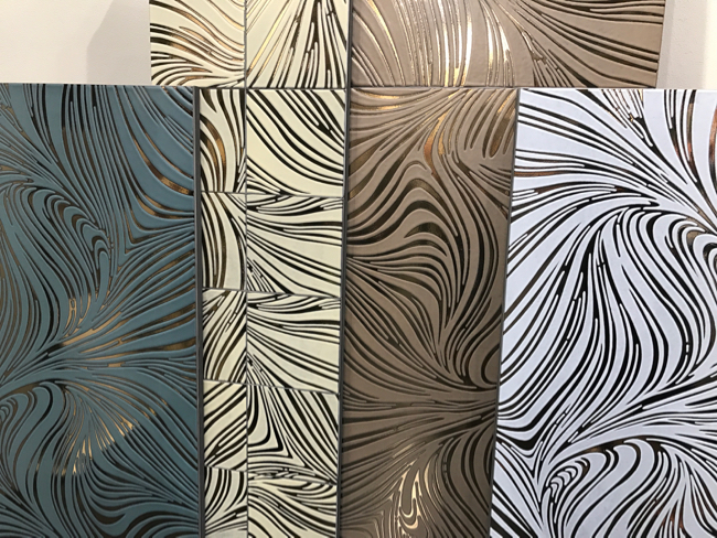 Coverings 2017 - Metallic and mirrored trend